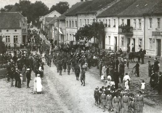 Fot., przemarsz harcerzy z Chorągwi Wielkopolskiej, 1936. Zbiory TS